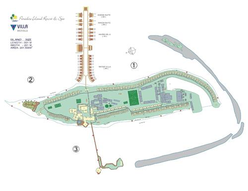 パラダイスアイランドリゾート&スパマップ